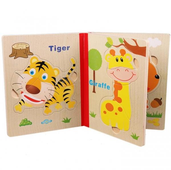 Carte puzzle pentru copii din lemn 3