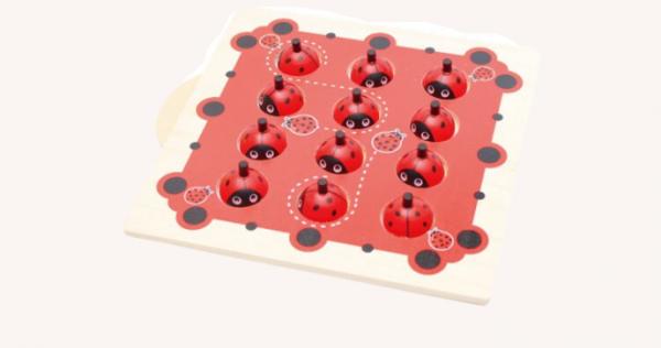 Joc de Memorie din Lemn Ladybug - Joc de memorie din lemn cu planse 5