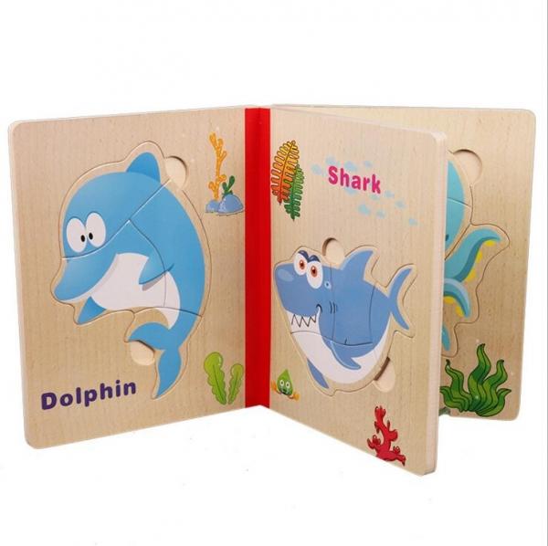 Carte puzzle pentru copii din lemn 2