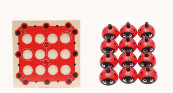 Joc de Memorie din Lemn Ladybug - Joc de memorie din lemn cu planse 2