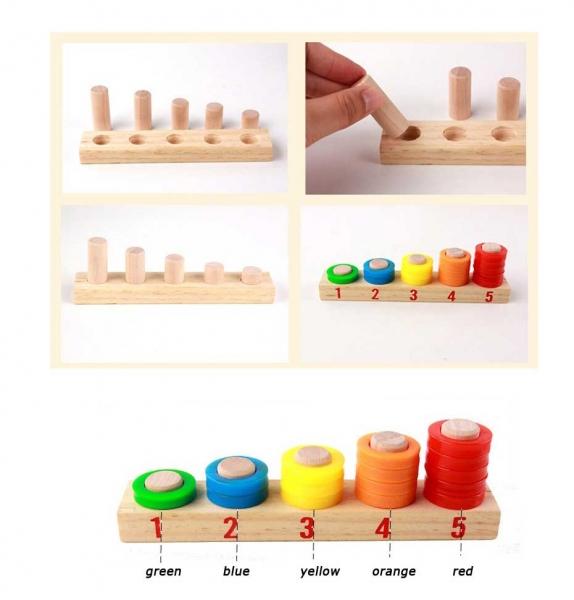Tabla educativa 3 in 1 din lemn cu cifre si operatii matematice 8