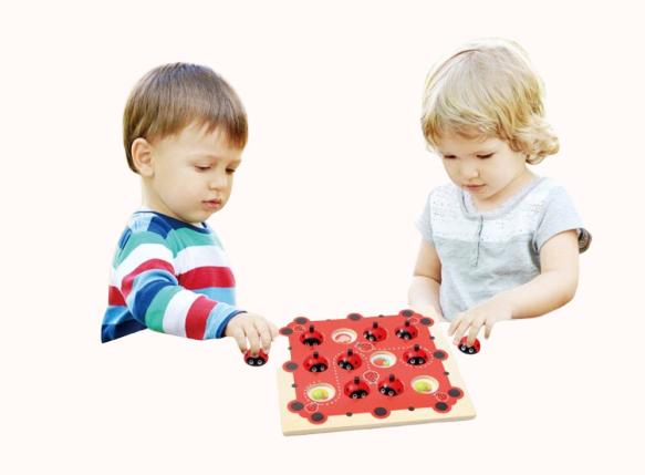 Joc de Memorie din Lemn Ladybug - Joc de memorie din lemn cu planse 8
