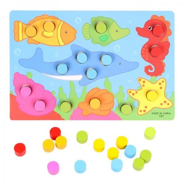 Set 3 planse Joc din lemn sa potrivim culorile 5