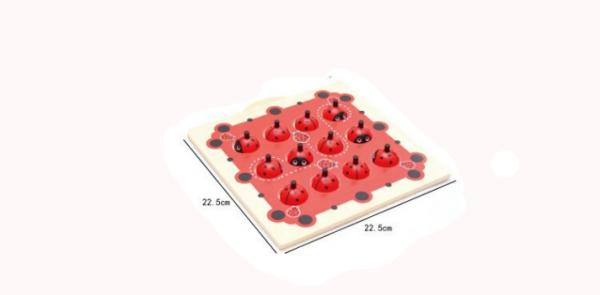 Joc de Memorie din Lemn Ladybug - Joc de memorie din lemn cu planse 9