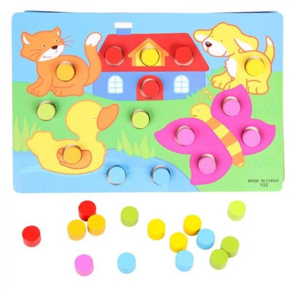 Set 3 planse Joc din lemn sa potrivim culorile 4