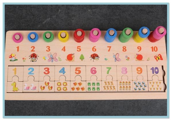 Joc din lemn asociere numere stivuire Digital Shape 0