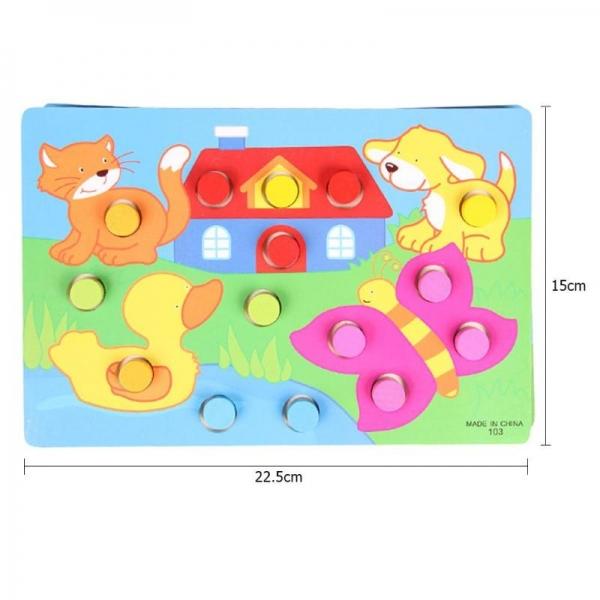 Set 3 planse Joc din lemn sa potrivim culorile 3
