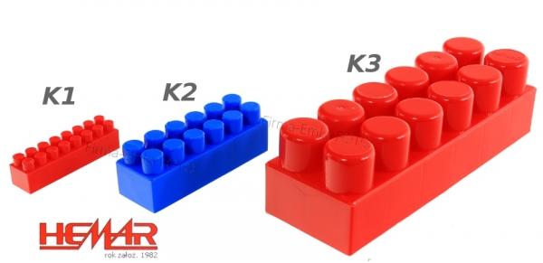 Set Cutie tip troler Cuburi de construit Hemar 180 piese  k2 2