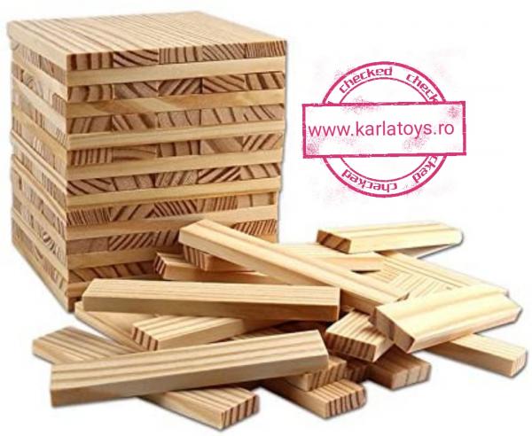 Joc de construit din lemn natur 300 de piese 1