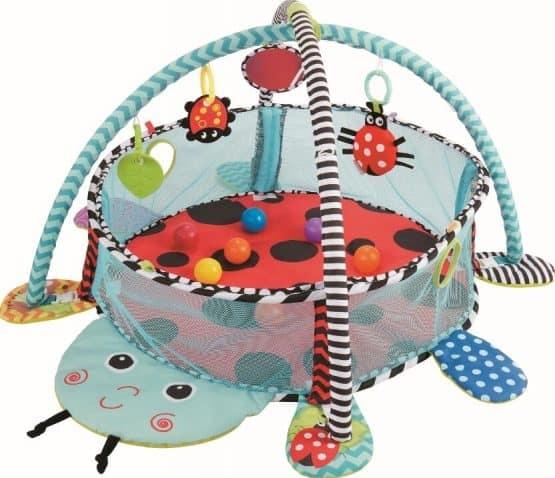 Saltea activitati bebe si centru de joaca cu bile 3 in 1 0