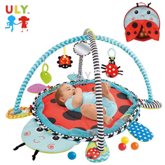 Saltea activitati bebe si centru de joaca cu bile 3 in 1 1