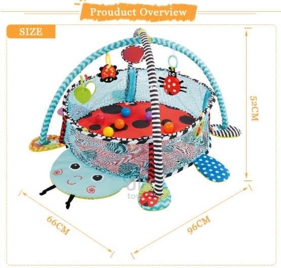 Saltea activitati bebe si centru de joaca cu bile 3 in 1 2