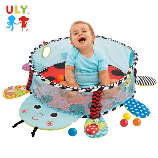 Saltea activitati bebe si centru de joaca cu bile 3 in 1 3