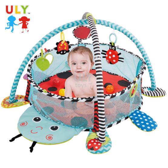 Saltea activitati bebe si centru de joaca cu bile 3 in 1 5