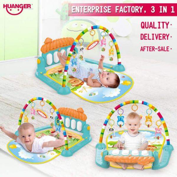 Saltea activitatii bebe 3 in 1 Huanger -Saltea bebe 3 in 1 cu pian 4