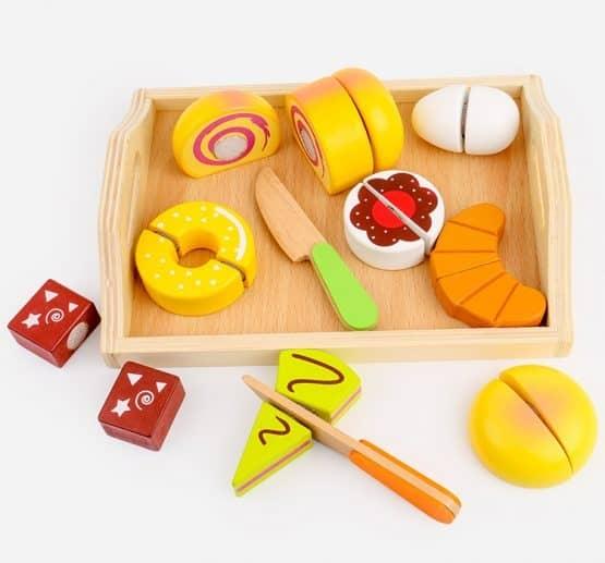 Set Alimente din lemn de feliat Micul Dejun [0]