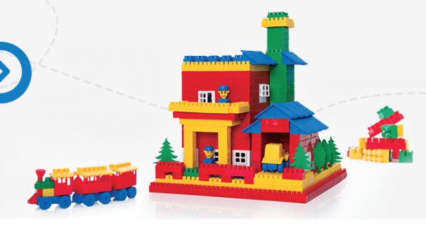 Cuburi constructie lego K2 160 piese Hemar 0