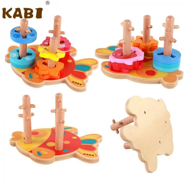 Joc educativ puzzledin lemn Pestisorul Kabi 6