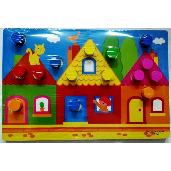Set 3 planse Joc din lemn sa potrivim culorile 6
