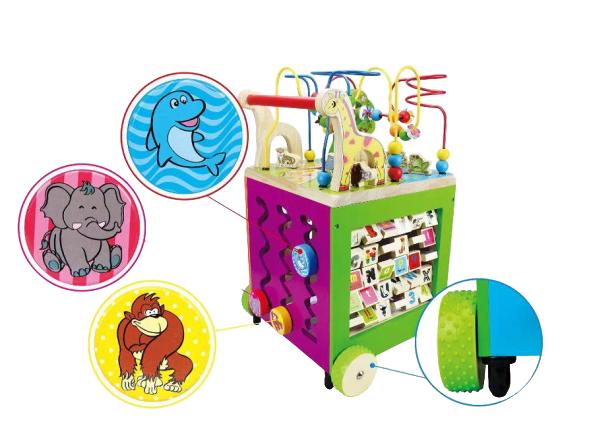 Antepremergator Lemn Montessori Zoo - Cub Multifunctional Lemn Antepremergator Zoo 3