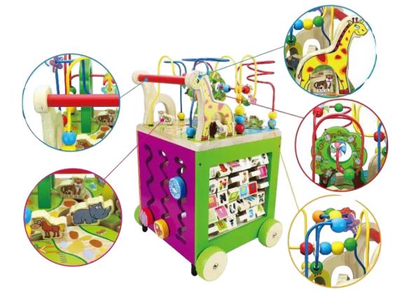 Antepremergator Lemn Montessori Zoo - Cub Multifunctional Lemn Antepremergator Zoo 5