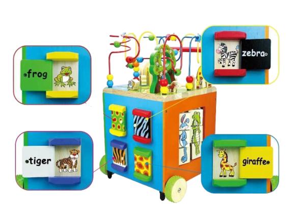 Antepremergator Lemn Montessori Zoo - Cub Multifunctional Lemn Antepremergator Zoo 6