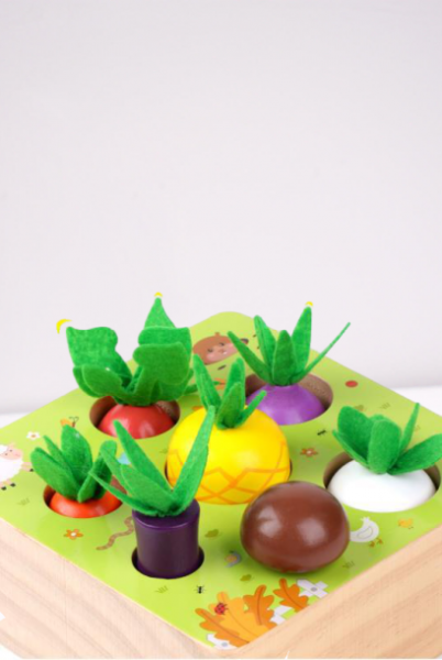 Joc interactiv Motricitate - Joc  lemn legume si fructe Happy Farm 3