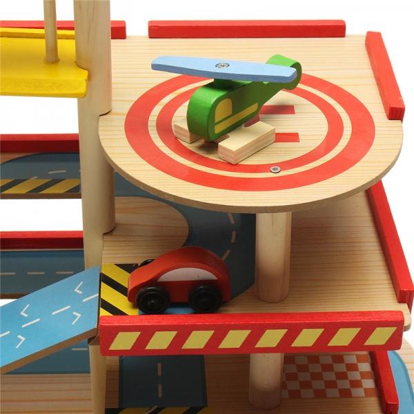 Jucarie Parcare din lemn Public Garage cu accesorii 8