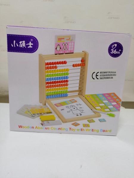 Abac cu tabla cu 2 fete din lemn cu accesorii 4 in 1 13