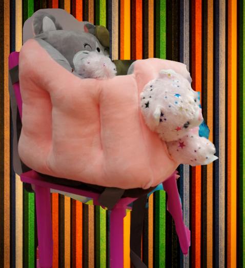 Scaun bebelusi portabil din plus - Inaltator scaun din plus pentru Bebe 2