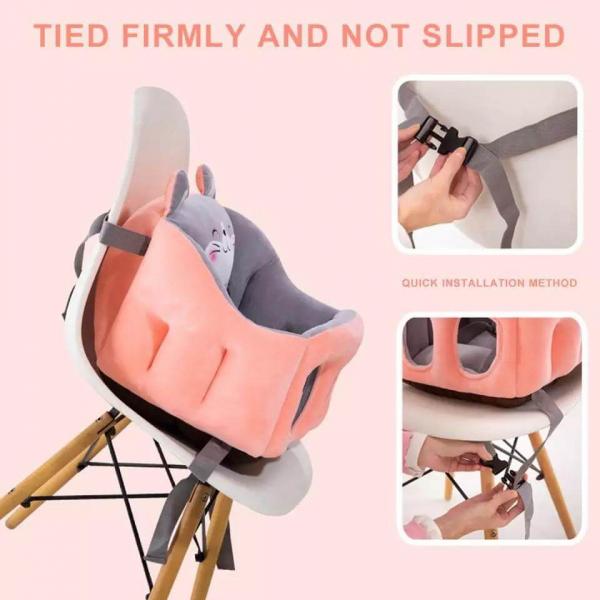 Scaun bebelusi portabil din plus - Inaltator scaun din plus pentru Bebe 6