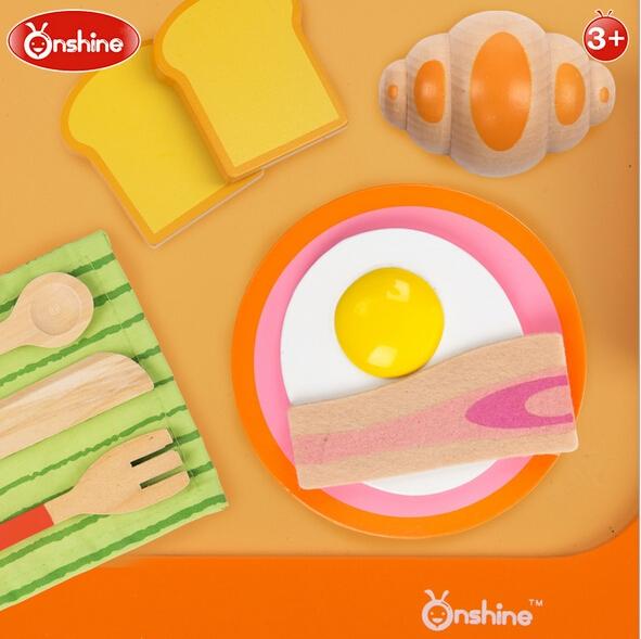 Set jucarie de lemn Micu Dejun Onshaine -Mic dejun din lemn jucarie copii 1