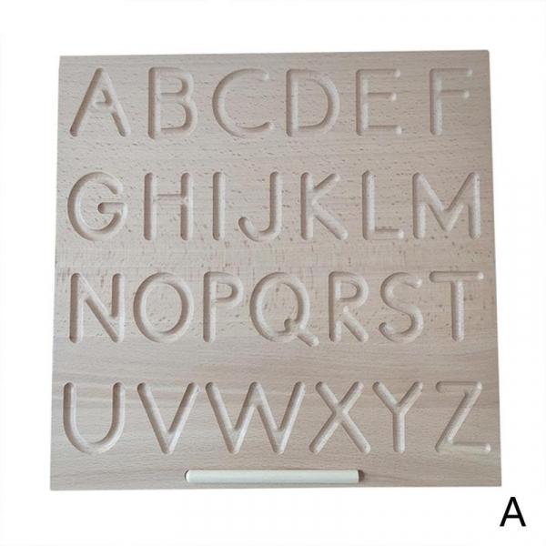 Joc  lemn montessori litere si cifre Tabla de urmariere al literelor 3