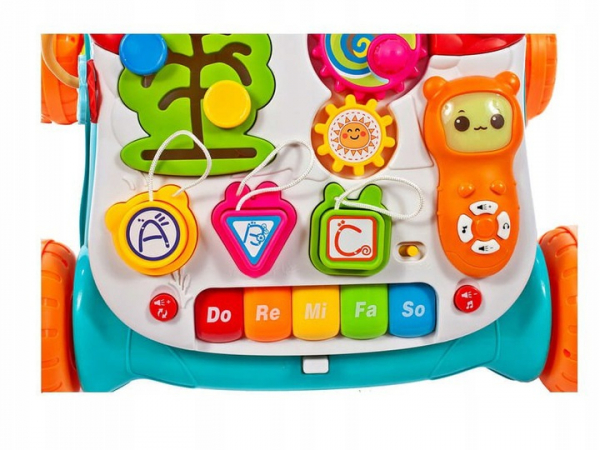 Antepremergator copii 3 in 1 Musical Stroller - Antepremergator multifunctional 3 in 1 educativ 2
