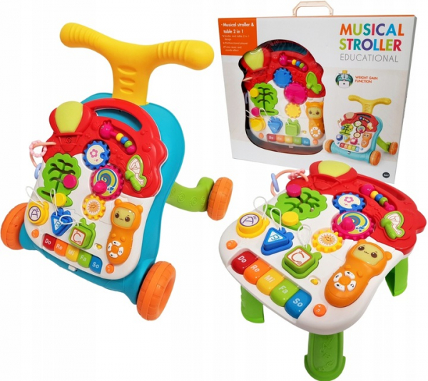 Antepremergator copii 3 in 1 Musical Stroller - Antepremergator multifunctional 3 in 1 educativ 3