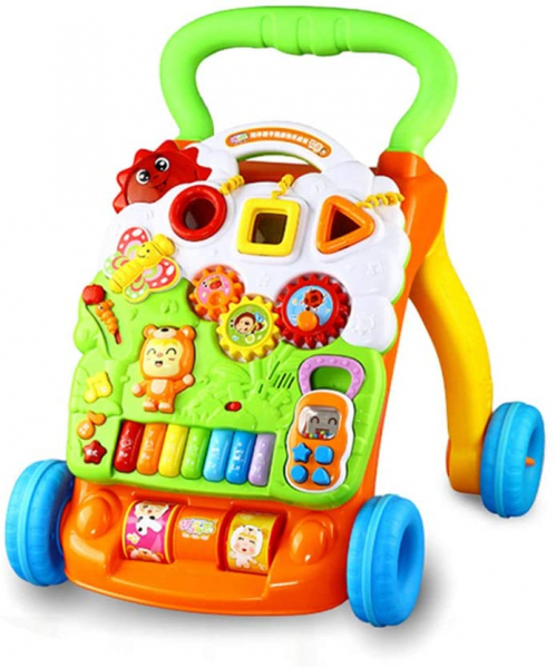 Antepremergator Copii Baby Piano Walker Panou Detasabil 0