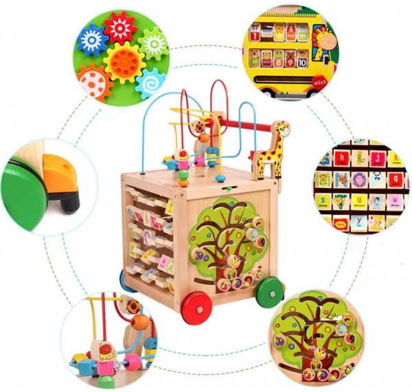 Antepremergator din Lemn Montessori 6 in 1 1