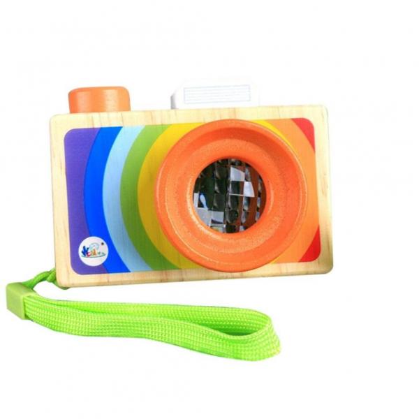 Aparat foto din lemn copii - Camera foto din lemn de jucarie 1