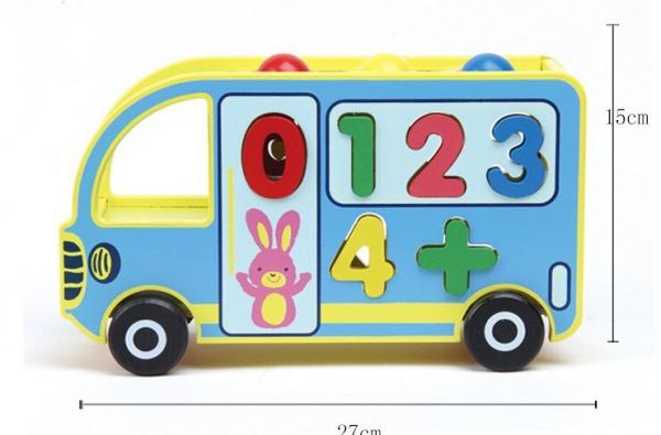 Autobuz din Lemn Educativ 5 in 1 [1]