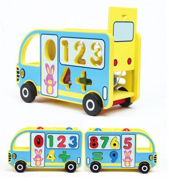 Autobuz din Lemn Educativ 5 in 1 [0]