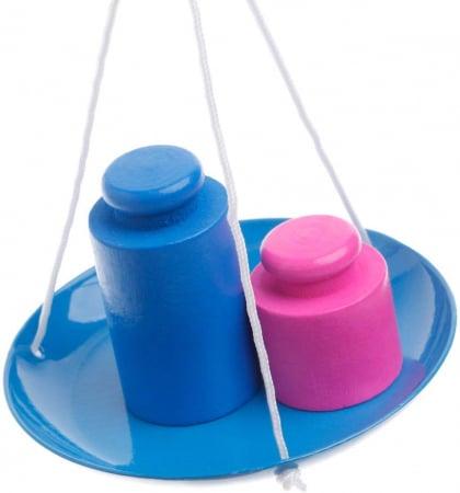 Jucarie de Lemn Montessori Echilibru Blanta cu 6 greutatii 2