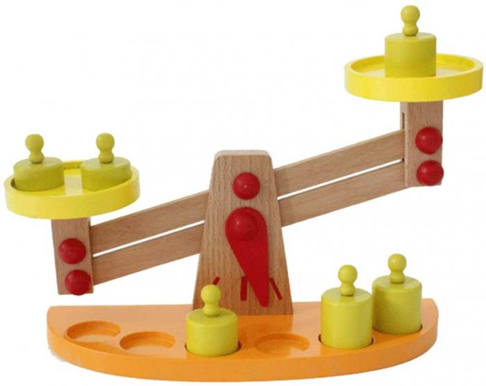 Balanta din Lemn Montessori Cantar cu 6 Greutatii [1]