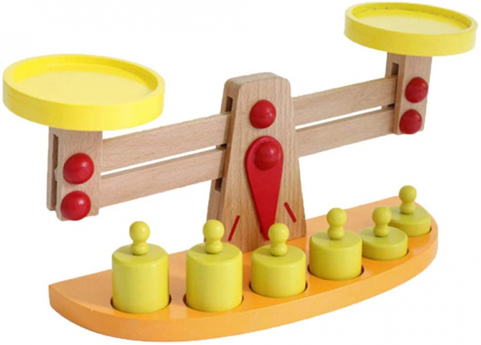 Balanta din Lemn Montessori Cantar cu 6 Greutatii [2]