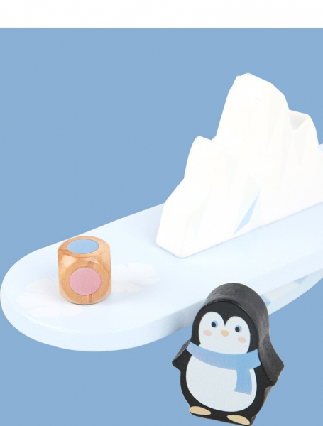 Joc din lemn echilibru Balanta Pinguin 2