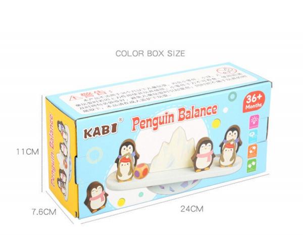 Joc din lemn echilibru Balanta Pinguin 7