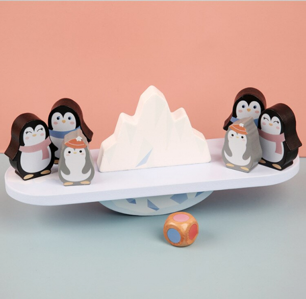Joc din lemn echilibru Balanta Pinguin 8