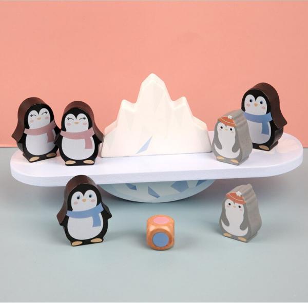 Joc din lemn echilibru Balanta Pinguin 6