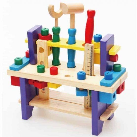 Banc de scule din lemn pentru copii 0