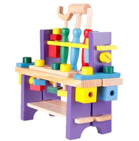 Banc de scule din lemn pentru copii 1