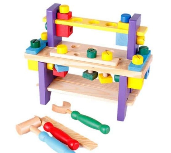 Banc de scule din lemn pentru copii 2